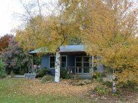 Blue Cottage in Autumn